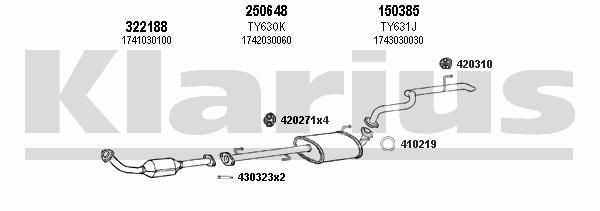 Схема выхлопной системы тойота прадо 120